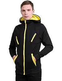 Sourcingmap Allegra K Men Zip Hoodies Kangaroo Pocket Sweatshirt Layered Jackets