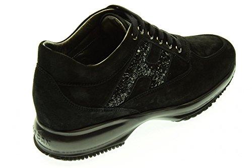 H Hogan Lavorata Spezzata Baskets Interactive Nero En Sneakers Daim Chaussures Femme rH8WqC7rw