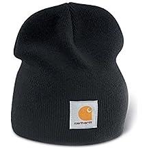 Carhartt Gorro de Punto Cap - Negro Sombrero Gorra de Esquiar Logotipo  CHA205BLK 4357e2a520c