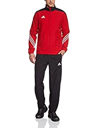 adidas Herren Fußball Trainingsanzug Sere14,Top:Unired/Black/Wht Bottom:Black/White,L