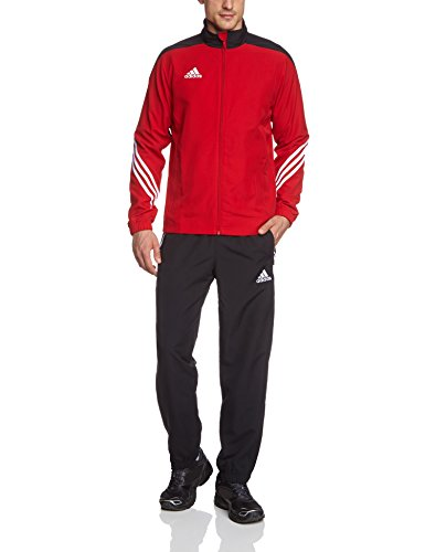 adidas Herren Fußball Trainingsanzug Sere14,Top:Unired/Black/Wht Bottom:Black/White,M