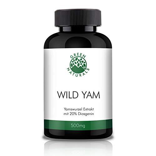 GREEN NATURALS Premium Yams - 180 hochdosierte Kapseln á 500mg aus deutscher Herstellung - 100{ba52038a603c4ee29c85b135150ea86483021af0c0d669338d33f727bb0d5a15} Vegan & Ohne Zusätze