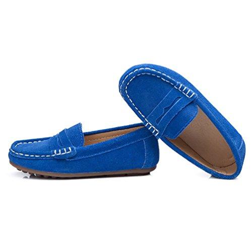 CHENGYANG Chaussure Bateau Enfant Confort Mocassin Fille Garçon Flâneurs Chaussures Foncé Bleu