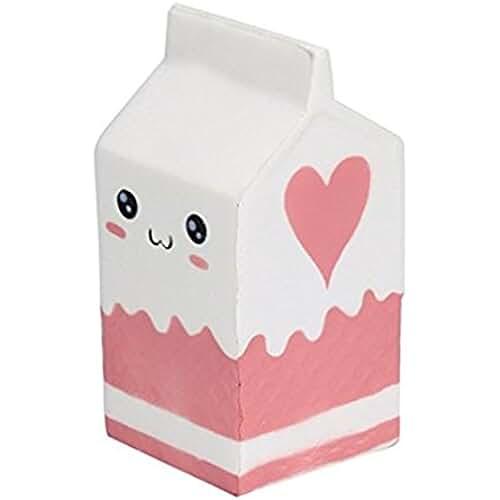 juguetes kawaii Kfnire Suave botella de yogur súper lento levantamiento niños juguete regalo (Blanco)