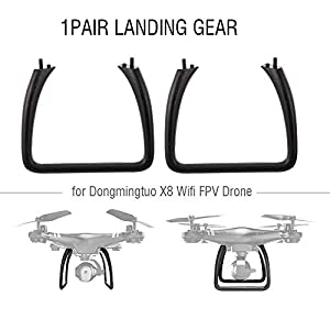 Goolsky 1Pair Landing Gear for Dongmingtuo X8 Wifi FPV Drone Quadcopter