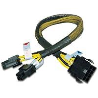 Akasa PSU extension cable splits 4+4 adaptador de cable - Adaptador para cable (0,3 m)