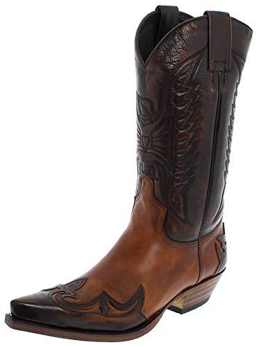 Sendra Boots Damen Herren Cowboy Stiefel 13170 Lederstiefel Braun 45 EU