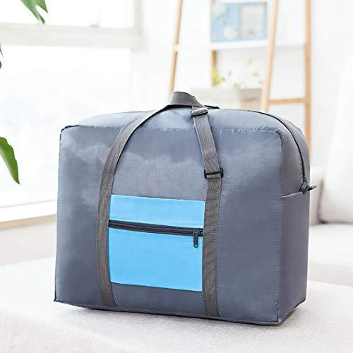Ovesuxle Faltbare Reise Seesack Leichte Aufbewahrung Gepäcktasche Wasserdichte Reise Handtasche Schultertasche Organizer Taschen für Reisen Sport Gym (Color : Blue) -