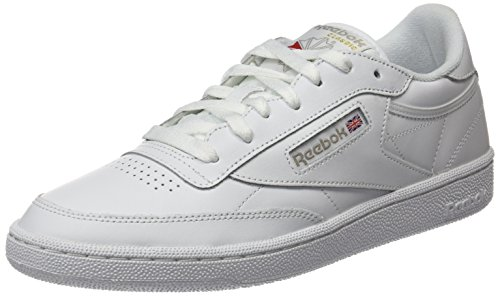 Reebok Club C 85, Deman Niedrig, Elfenbein (White/Light Grey), 39 EU (Retro-lifestyle-schuhe)