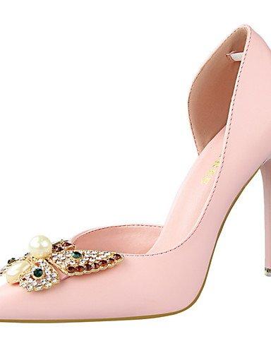 WSS 2016 Chaussures Femme-Habillé-Noir / Rose / Rouge / Blanc / Gris-Talon Aiguille-Talons / Bout Pointu / Bout Fermé-Talons-Similicuir white-us5.5 / eu36 / uk3.5 / cn35