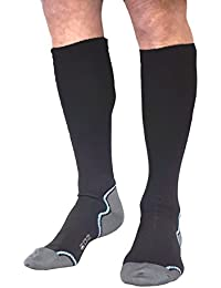 EDZ Calf Length Long Waterproof Socks with Merino Lining Black