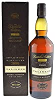 Rarity: Talisker Whisky Double Matured 1.0l vintage 1989, bottled 2002 with 45.8% alc./vol. incl. gift box - Single Malt Sotch Whisky from Talisker