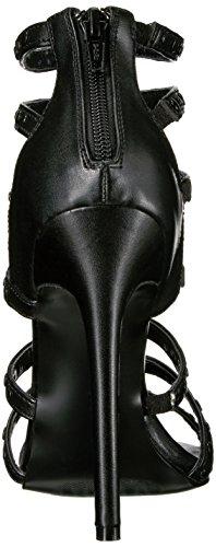 Pleaser, Sandali donna 44 Blk Faux Leather