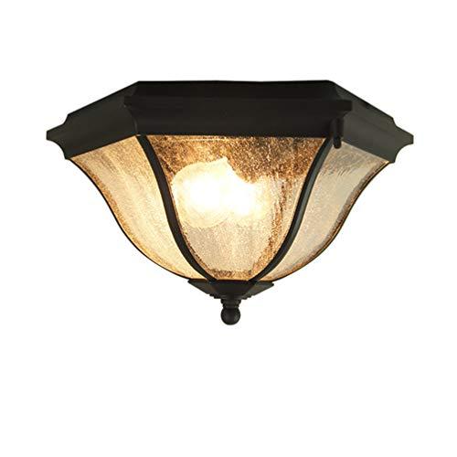 Moderne Deckenleuchte Outdoor Deckenlampe Balkon Deckenbeleuchtung 2 Lichter E27 Max. 40w IP54 Wasserdichte Deckenlicht Retro Industrie Stil Retro Design Lampe Für Hof Korridor Sicherheitslicht -