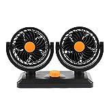 Muium 2019 Nuevo Ventilador de Aire de ventilación oscilante del Tablero de Instrumentos del Tablero de mandos Dual 12V Adapto al Coche/la Oficina (C)