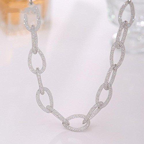 High-end elegante catena del maglione zircone femminile Collana lunga del pendente selvaggio , platinum