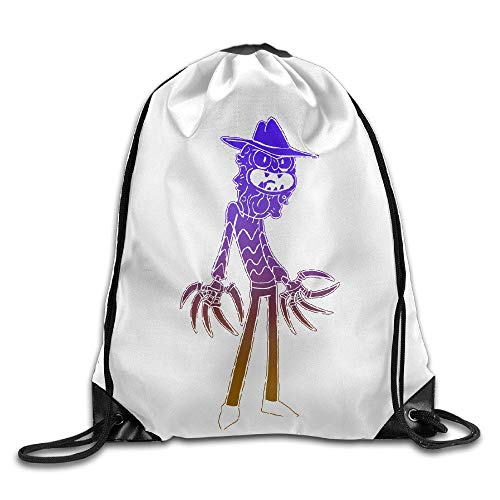 HLKPE Scary Terry Commemorative Edition Graphic-Print Drawstring Bag Thick Waterproof Drawstring Beam Port Gym Backpack - Art Print Terry