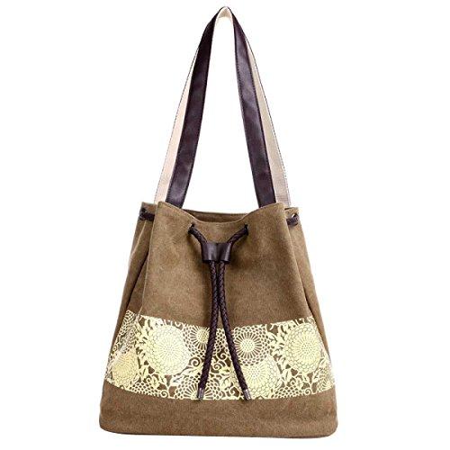 Frauen-Segeltuch-Schulter-Handtaschen Tote Bag A