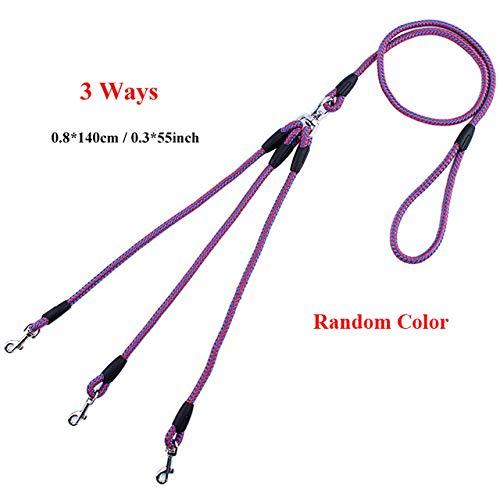 Mesh-kupplung (ZYTDE Haustiergeschirr 2/3-Wege-Kupplungen Pet Walking Running Hundeleine Lead 55 Long Braided Nylon Double Hundeleine Rope)