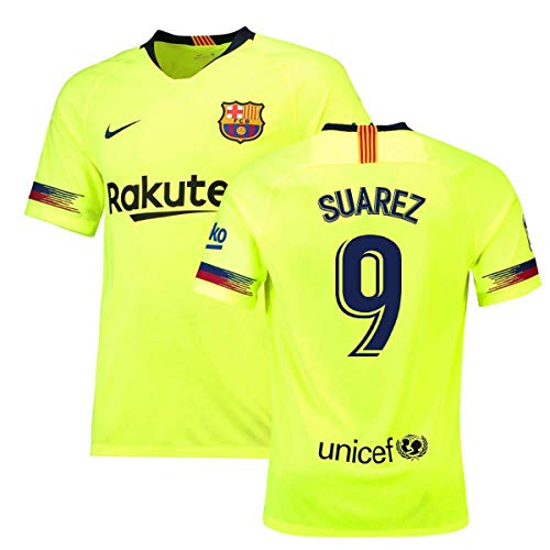 2018-19 Barcelona Away Football Soccer T-Shirt Camiseta (Luis Suarez 9) c1ded622d7b1b