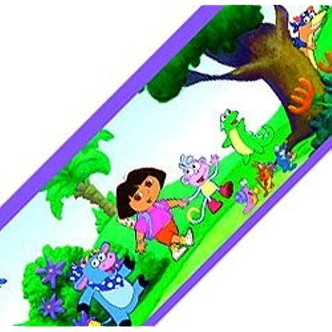 Brewster 147B02100 Fine Decor-Bordo autoadesivo riposizionabile da parete Dora Scenic dal cartone animato della Nickelodeon