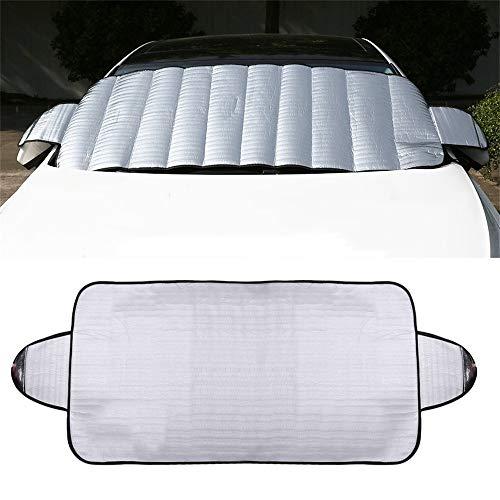 BAAQII Windschutzscheibe Sonnenschirm Auto Sonnenschutz Windschutzscheibe Abdeckung Block UV, Passt Die Meisten Autos Bei Jedem Wetter
