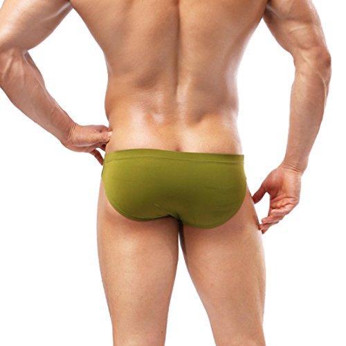 Herren Elastische Sexy Badehose Unterwäsche Kurze Hosen Shorts Bademode Army