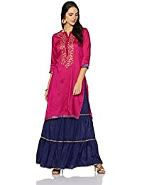Myx Women's Embroidered A-Line Kurta