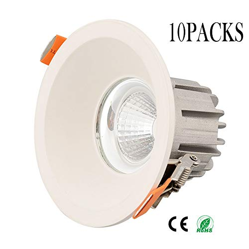 Wlnnes Las luces del techo 10pcs regulable empotrada LED 10W, 85LM /...