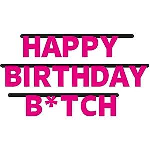 Folat Guirnalda de Fiesta de 3 m * Happy Birthday B * TCH * como decoración para Fiesta temática o Fiesta GE