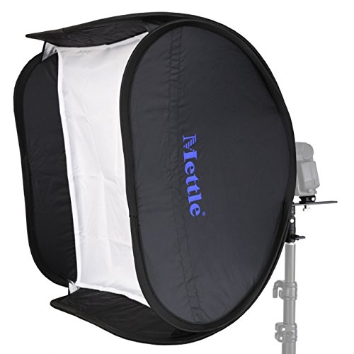 METTLE Systemblitz-Softbox Set 60x60 cm mit Halterung