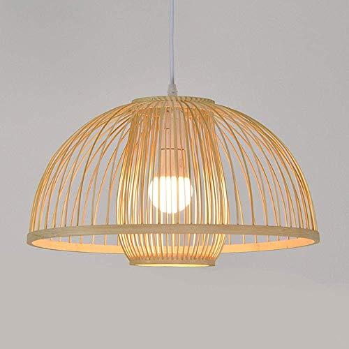 Bambus Kronleuchter DIY Wicker Rattan Lampenschirme Weben Hängen Licht Inverted Bowl Natürliche Farbe 15,7 Zoll E27 -