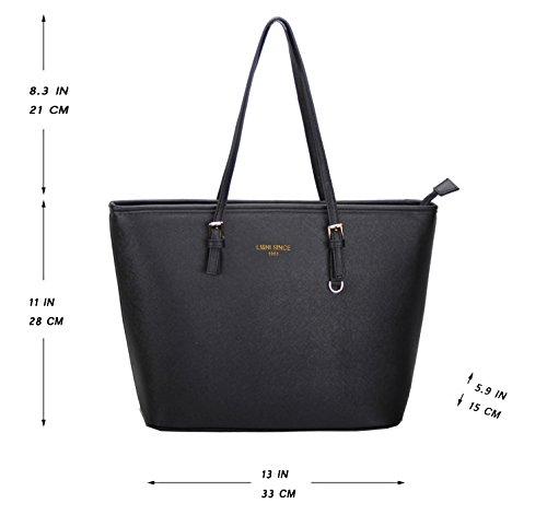 LI&HI Damen fashion elegant Leder Beutel shopper bag Umhängetaschen Schulterbeutel Abendtaschen Clutch - 2