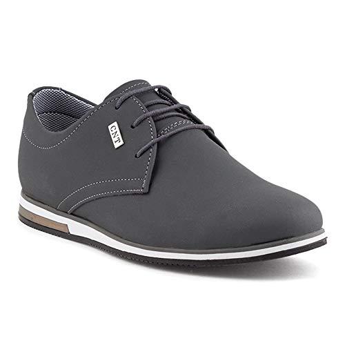 Fusskleidung Herren Business Schnürer Casual Halb Sneaker Schuhe Anzugschuhe Grau EU 42