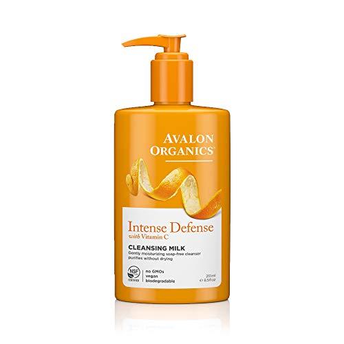 Avalon Active Organics Lait nettoyant hydratant - Enrichi en vitamine C - Pour une peau saine et radieuse - 250 ml