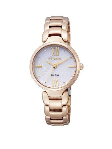 Citizen Damen-Armbanduhr XS Citizen L Analog Quarz Edelstahl beschichtet EM0022-57A