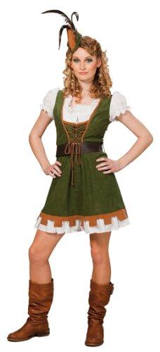 Miss Kostüm Robin - Ikumaal RS13541 Miss Robin Gr. 40 für Damen Faschingsspaß Kostüm Faschings Spaß für Frauen Kostüm Kleid