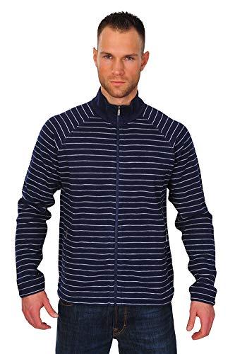 Zegna Sport Jacke Herren Blau Weiß Baumwolle Business L
