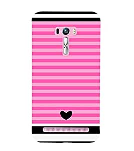 Asus Zenfone Selfie ZD551KL stripes Printed Cell Phone Cases, ruled Mobile Phone Cases ( Cell Phone Accessories ), heart Designer Art Pouch Pouches Covers, shades Customized Cases & Covers, contrast Smart Phone Covers , Phone Back Case Covers By Cover Dunia