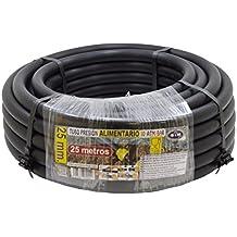 S&M 012242 - Tubería polietileno alimentario, 25 x 10 atm - 25 m, color negro