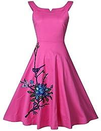 E-Girl M130818D Robe de bal Vintage pin-up 50's Rockabilly robe de soirée cocktail,S-XXXXL