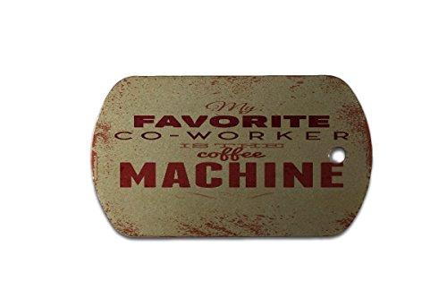 Hundemarke Erkennungsmarke Kaffee Cafe Bar Kaffemaschine bedruckt