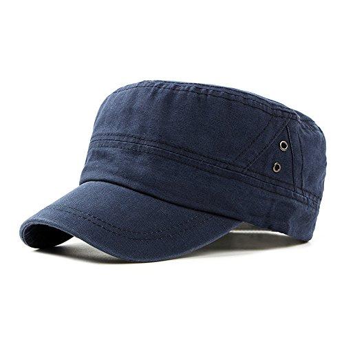 Plaine Casquettes Militaire Chapeau de Soleil Homme Femme Unisexe Coton Casquette Plate Casquette de Baseball