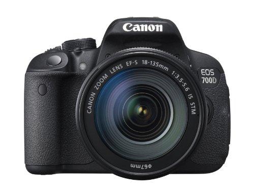 Canon 700D + EF-S 18-135mm IS STM Appareil Photo Numérique Reflex 18 Mpix Noir