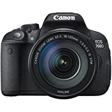 "Canon EOS 700D + EF-S 18-135 IS STM - Cámara réflex digital de 18 Mp (pantalla 3"" táctil, grabación de vídeo Full HD), color negro - Kit cuerpo con objetivo EF-S 18-135 mm IS STM"