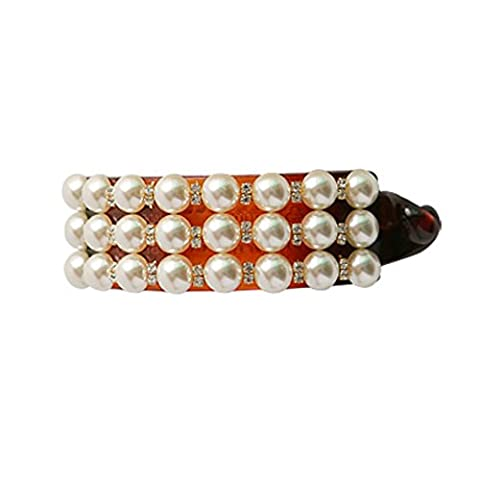 Simple cheveux sauvage/Perles clips de la banane/ Croix Collier or et diamants/ pony tail clip-A