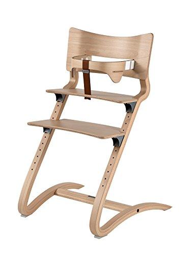 Leander silla Natural–Trona–Silla infantil–Silla adultos con Baby plancha + bandeja color blanco + cojín Vainilla