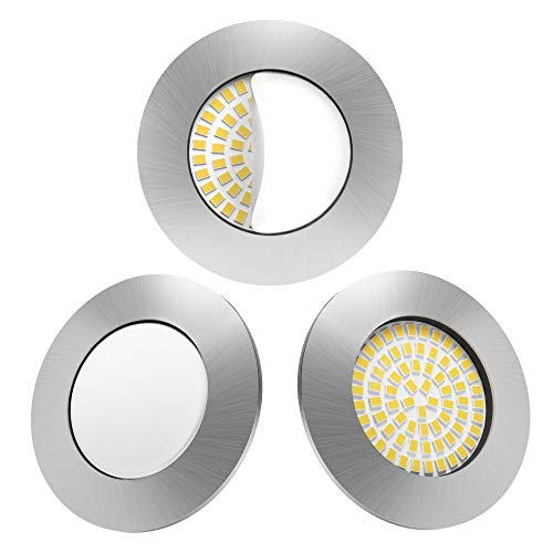 LED-Spot Nickel matt, Chrom, mit Glas, Weiß