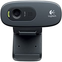 Logitech HD Webcam C270 Webcam HD avec microphone intégré USB Compatible Skype/MSN/Facebook Noir (version Europe Centrale)