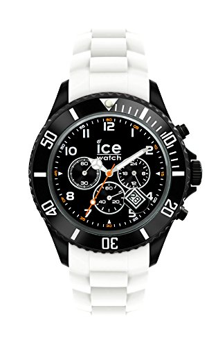 Ice-Watch - ICE Chrono Black White - Reloj bianco para Hombre con Correa de silicona - 013707 (Large)